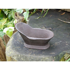 CAST IRON BATH IDEAL AS BIRD BATH/SOAP DISH