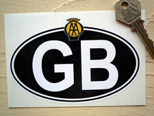 GB AA Classic Style Car or Motorcycle National ID Plate STICKER 125mm Bike Van