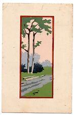 """MESCHINI """"GMT EDIZIONI ARTISTICHE DIPINTE A MANO"""" viaggiata 1935 POCHOIR"""