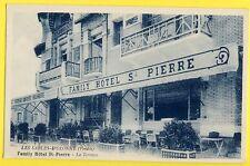 cpa Rare LES SABLES d'OLONNE (Vendée) La Terrasse du FAMILY HÔTEL SAINT PIERRE