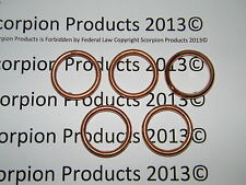 Scooter & ATV Exhaust Gaskets 5 Pack Chinese Scooter GY6 50cc 150cc 139QMB