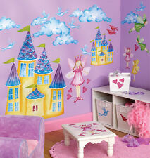 WALLIES FAIRYLAND wall stickers MURAL 32 decals fairy castles clouds room decor