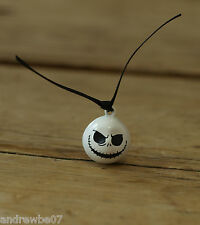 1x Jack Skellington Bell Charm - Nightmare before Christmas -  White