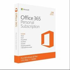 Microsoft Office 365 Personal 32/64-bit 1-Year Subscription Word, Excel, Outlook