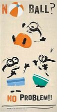 Despicable Me Minion - 'No Ball No  Problem' Standard Beach Towel - 75cm x 150cm