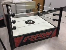 "WWE World Championship Wrestling Raw Replica Toy 13"" Ring Spring Loaded Figures"