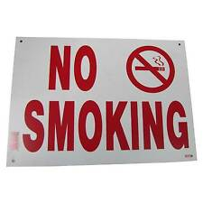 No Smoking Business Information Policy Sign 10 inch x 14 inch White