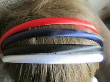 Pack 4 hair alice bands 0.5cm headband fabric band school colours hairband  red