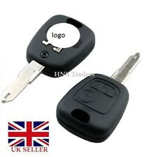 REPLACEMENT 2 BUTTON REMOTE KEY FOB CASE FOR PEUGEOT 106 107 206 207  307/ LOGO