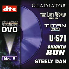 New! DTS 5.1, 6.1 & ES Demo #5 Genuine DVD - Very Rare