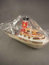 Tin Toy - Steam Tug Boat Candle Powered - Yellow/Cream