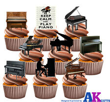 Piano Partido Pack 36 Comestibles Stand Up Cup Cake Toppers música Musical Decoraciones
