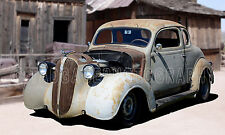 1937 Plymouth Coupe in Ghost Town Classic Car Photo (CA-0833)