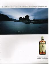 Publicité Advertising 1990 Scotch Whisky Ballantine's