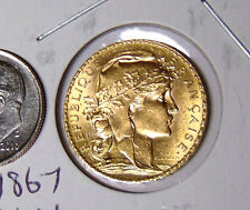 BU 1913 France 20 Francs Gold Rooster Brilliant Uncirculated French Gold Coin