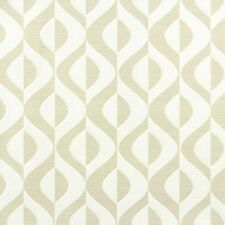 Retro 60's 70's Cat Eye Geometric Beige Cream Textured Wallpaper Wall Covering