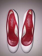 LADIES WOMENS WHITE NAUTICAL THEME STILETTO HEELED SHOES NEW LOOK SIZE 7