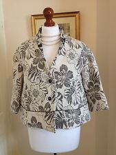 Sisley 3/4 Sleeve Floral Cropped Jacket NWT FR38 UK10 Made In Italy Gorgeous!