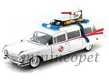 HOT WHEELS BCJ75 GHOSTBUSTERS ECTO 1 MOVIE 1959 CADILLAC AMBULANCE 1/18 WHITE