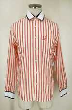 RAF SIMONS x FRED PERRY MEN's Shirt White & Red