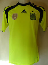 SPAIN FOOTBALL 2014  AWAY GOALKEEPERS JERSEY BY ADIDAS ADULTS SIZE LARGE  BNWT