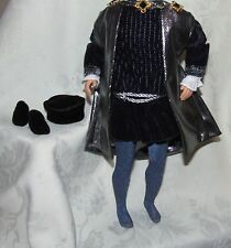 MATTEL KEN DOLL ROMEO FASHION LOT  TUNIC CLOAK LEGGINGS SLIPPERS HAT FOR DOLL