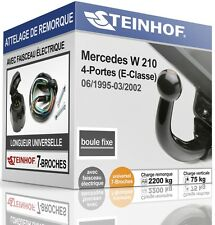 ATTELAGE fixe MERCEDES-BENZ W210 1995-2002 + FAISC.UNIV.7-broches COMPLET
