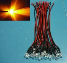 (50 pieces) (work from 5V up to 9V) 5mm Yellow blinking Wired LED light flashing