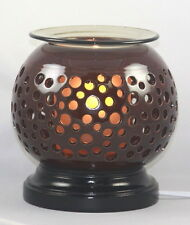 ELECTRIC OIL TART WARMER BURNER DIFFUSER CERAMIC BROWN NIGHTLIGHT FRAGRANCE OIL