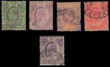 STRAITS SETTLEMENT 1903, 5 Different King Edward Issues, Used