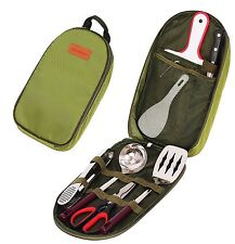 Durable 7 Piece Outdoor Indoor Camping Bbq Cooking Utensils Set Cookware Set