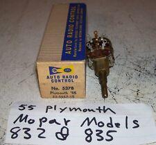 55 1955 Plymouth Chrysler radio volume control NOS for  Mopar models 832 & 835