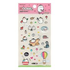 Marshmallow Bunny Lovely Molang 3D Puffy Sticker : Bon Voyage Traveling