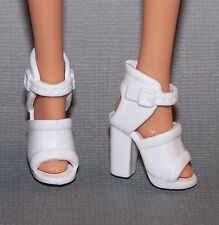 Barbie Doll Shoes Fashionista Life in the Dreamhouse White Sandals Heels