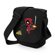 Deadpool Mini Hero Chibi Juego Mini Messenger Bolso Geek Superhéroe