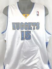 New Mens Reebok Carmelo Anthony Denver Nuggets #15 White NBA authentic jersey