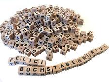 Buchstabenwürfel 300 Stück Holz Buchstaben ABC-Würfel Perlen Holzperlen Beads
