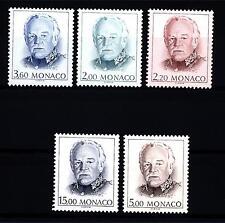 MONACO - 1989 - Principe Ranieri III°. Serie ordinaria. Nuovo tipo