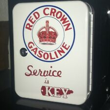 RED CROWN GASOLINE  1950S GAS OIL SERVICE STATION KEY BOX NEW