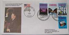 Stadspost Zaanstad 1985 - FDC Kernwapens (Nuclear weapons) Ronald Reagan USA