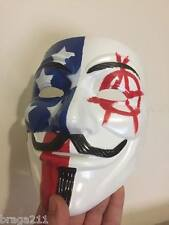 United States Anarchy USA Custom Guy Fawkes V For Vendetta Anonymous Anon Mask