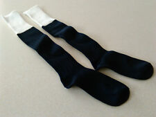 1 PAIR New Football Socks Navy/White Tops Child Size MED 3-6 Shoe Hockey Rugby