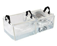 COLEMAN Portable Camping Folding PVC Double Wash Basin Kitchen Sink w/ Handles