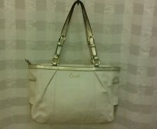 Coach white and gold satchel handbag purse-D1163F17721 REDUCED PRICE!