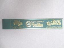 BOOKMARK Leather BEAULIEU Motor Museum 1909 Rolls Royce Silver Ghost Car Green