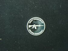 1 GRAM .999 SILVER 2nd AMENDMENT TACTICAL RIFLE ROUND COIN AR-15 AK-47 SKS 5.56