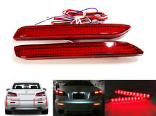 2x Red Lens LED Rear Bumper Reflector Tail Brake Stop Light For Lexus ISF GX470