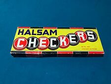 Vintage Halsam Wooden Checkers Set No 145H Complete