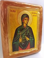 Saint Olympia Olympias The Deaconess Rare Christianity Greek Orthodox Icon Art