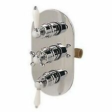 Swirl Victorian Triple Control Thermostatic Mixer Shower Valve Bathroom
